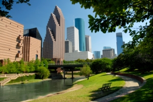 Hike and Bike Trails Along Houston Bayou