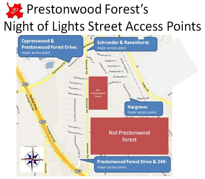 Prestonwood Forest Christmas Lights - Christmas Moment